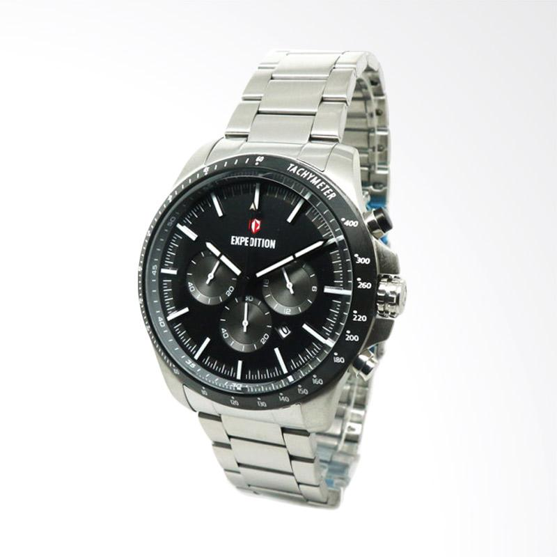 Expedition Jam Tangan Pria - Silver Black [6744]