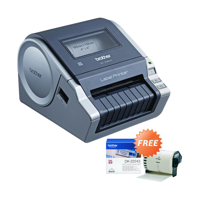 Brother P-Touch QL-1060N Mesin Label + Free Dk-22243 Label