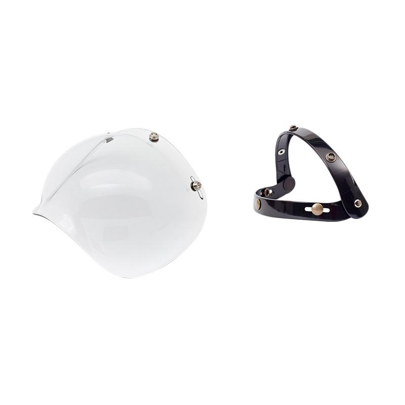 Boulter Helmet Combo Bubble Shield Visor Helm - Clear