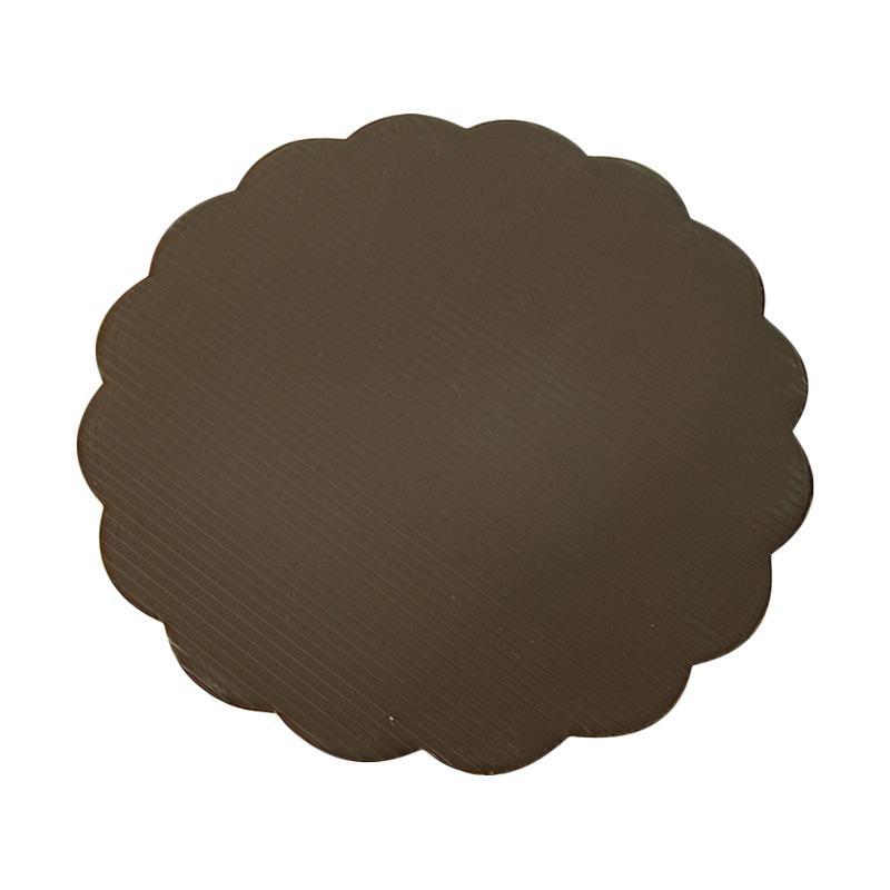 Titan Baking Bulat Tatakan Kue - Coklat [28 cm] isi 12 pcs