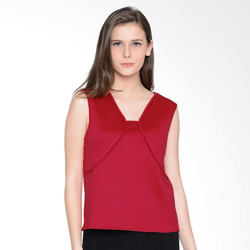 A&D Fashion Ms 1004 Sleeveless Blouse Atasan Wanita - Red