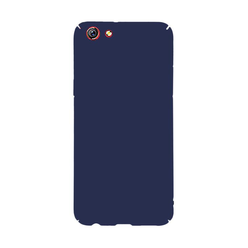 OEM Baby Skin Ultra Thin Hardcase Casing for Oppo F3 - Blue Navy
