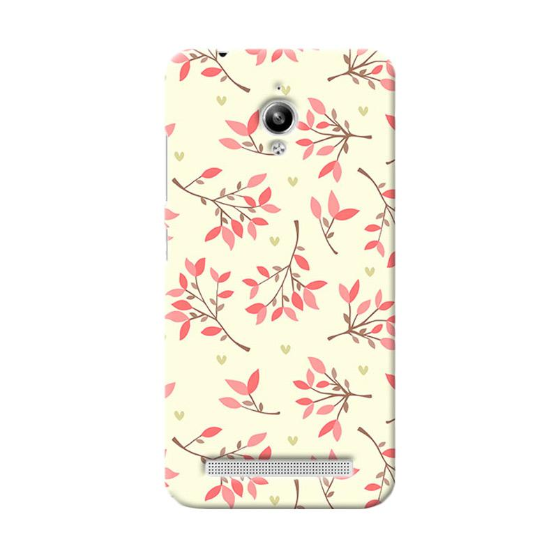 Premiumcaseid Case Cute Floral Seamless Shabby Hardcase Casing for Asus Zenfone Go