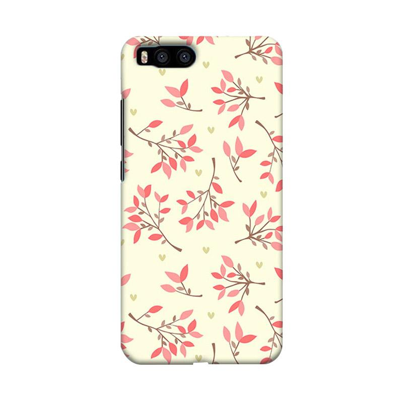 Premiumcaseid Cute Floral Seamless Shabby Hardcase Casing for Xiaomi Mi 6