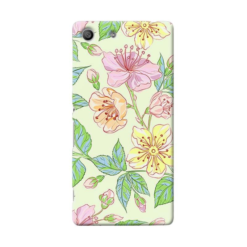 Premiumcaseid Beautiful Flower Wallpaper Hardcase Casing for Sony Xperia M5