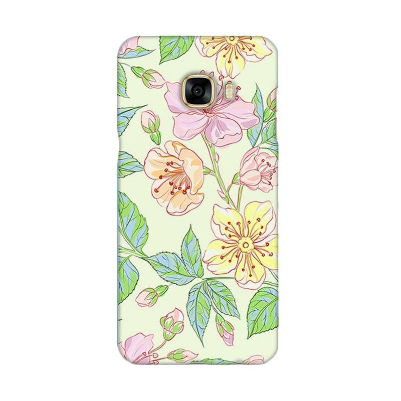 Premiumcaseid Beautiful Flower Wallpaper Cover Hardcase Casing for Samsung Galaxy C5 Pro