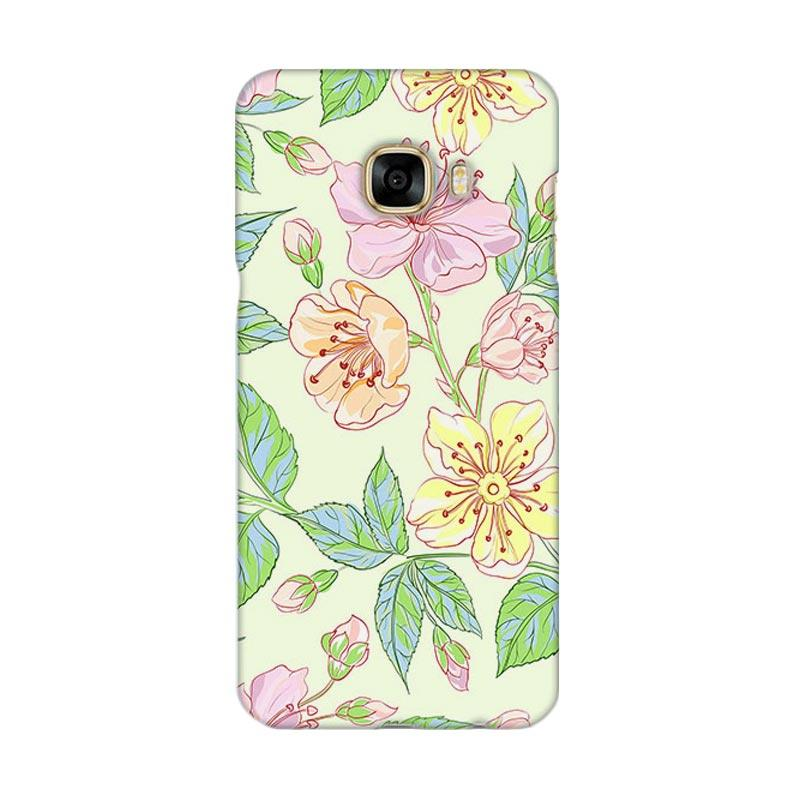 Premiumcaseid Beautiful Flower Wallpaper Cover Hardcase Casing for Samsung Galaxy C7 Pro