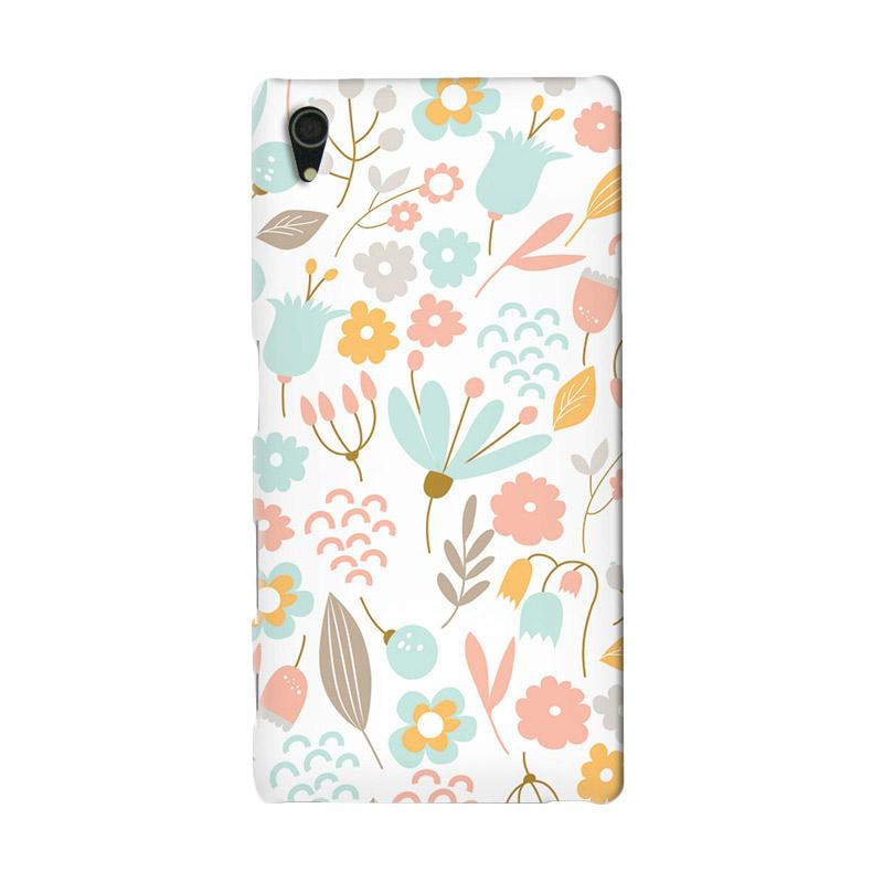Premiumcaseid Cute Pastel Shabby Chic Floral Hardcase Casing for Sony Xperia Z4