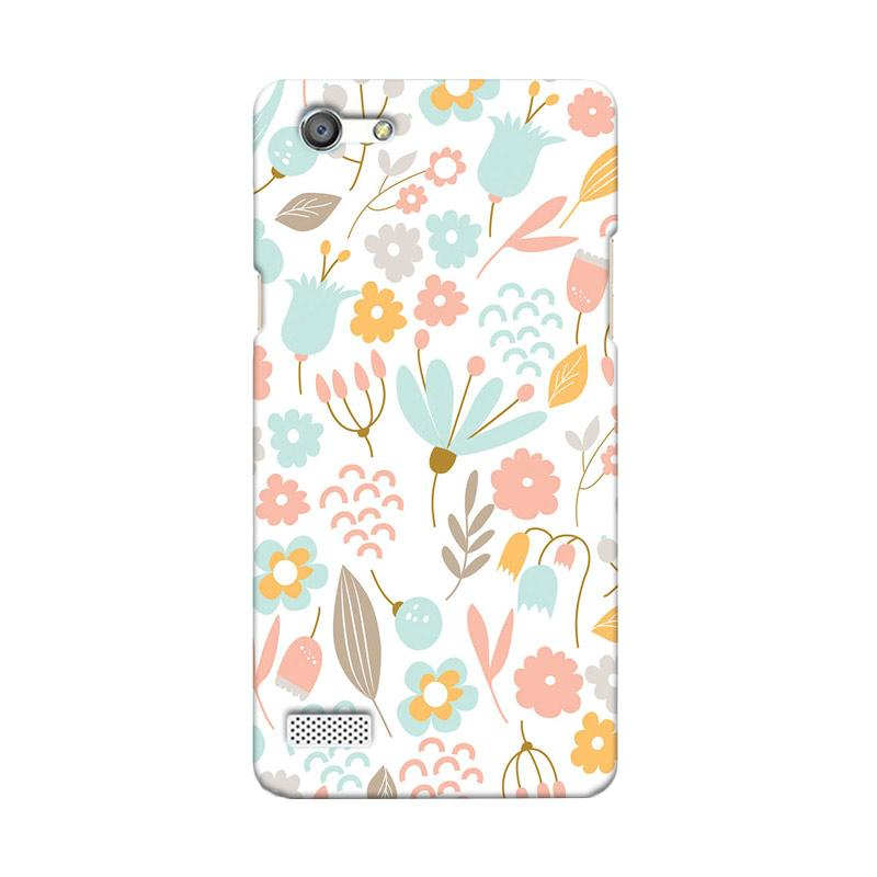 Premiumcaseid Cute Pastel Shabby Chic Floral Hardcase Casing for Oppo Neo 7 A33