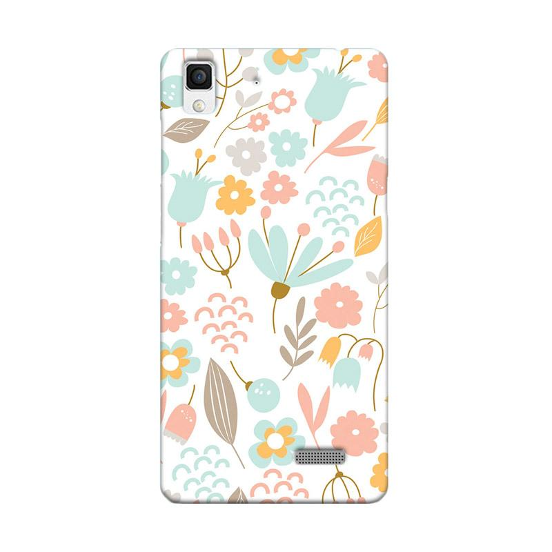 Premiumcaseid Cute Pastel Shabby Chic Floral Hardcase Casing for Oppo R7