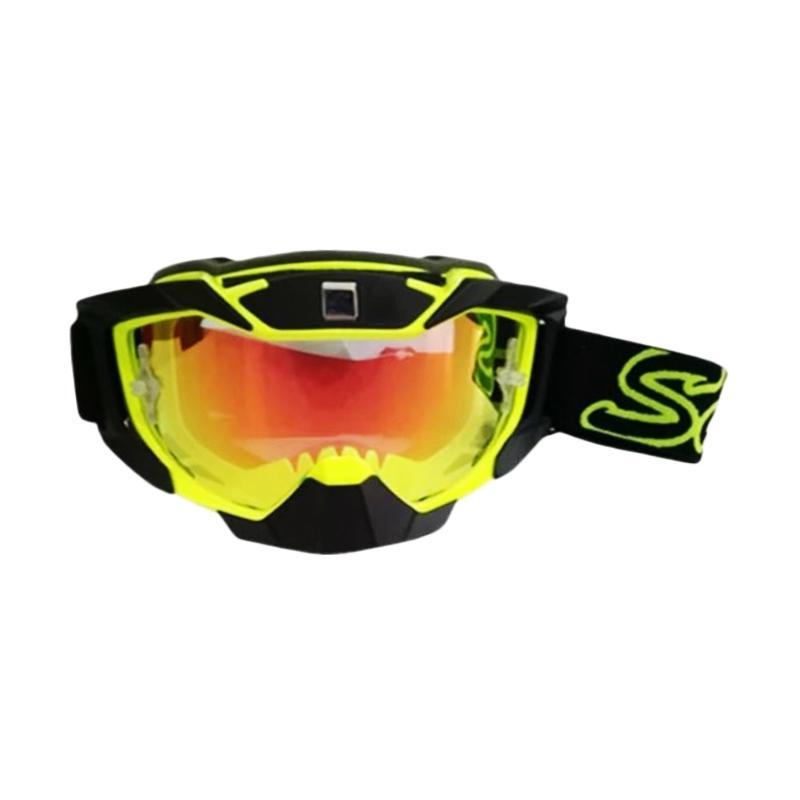 Snail MX36 Kaca Revo Merah Kacamata Cross - Hitam [KMT6066-PelangiMerah-Hitam]