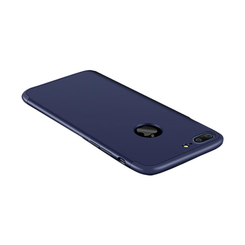 OEM 360 Full Protective 3in1 Hardcase Casing for iPhone 7 Plus - Blue Navy + Free Screen Protection
