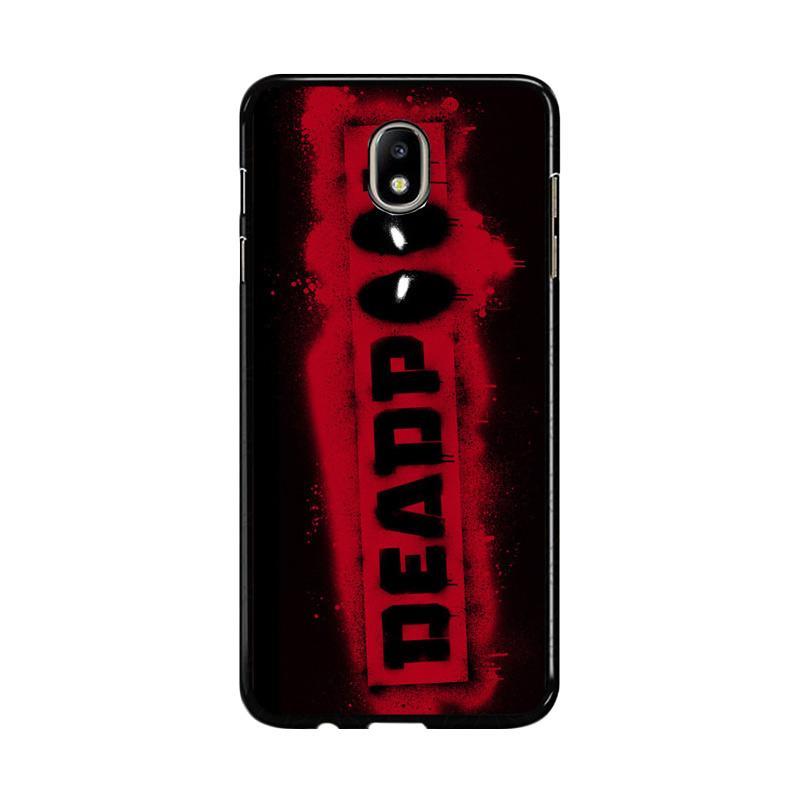 Flazzstore Deadpool Logo Brush Z1241 Custom Casing for Samsung Galaxy J7 Pro 2017