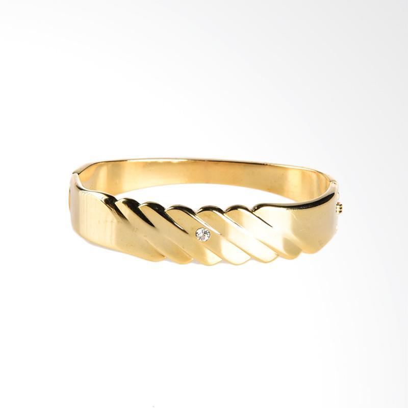 1901 Jewelry Golden Bangle 192 GL.192.HR17 Gelang Wanita - Gold