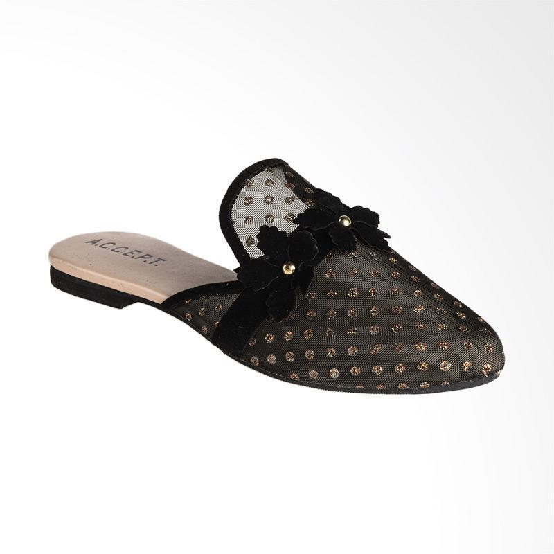 A.C.C.E.P.T Cherice Sandal Slip On Wanita - Black