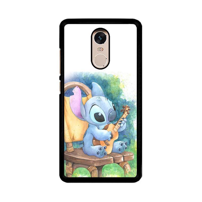 Flazzstore Ukulele Stitch O0414 Custom Casing for Xiaomi Redmi Note 4 or Note 4X Snapdragon Mediatek