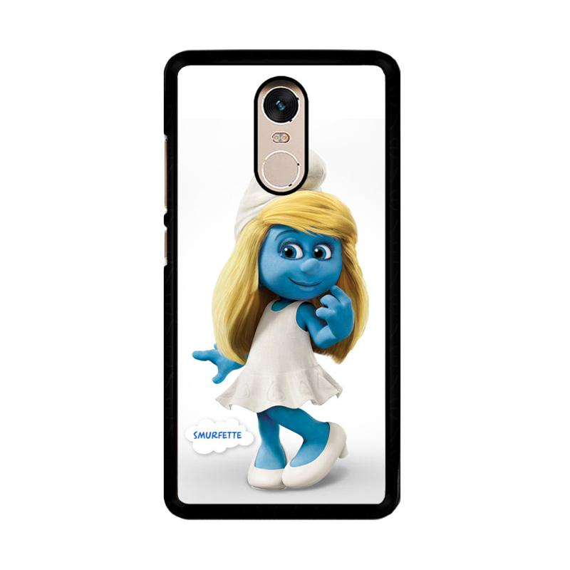 Flazzstore Smurfette The Smurfs O0675 Custom Casing for Xiaomi Redmi Note 4 or Note 4X Snapdragon Mediatek