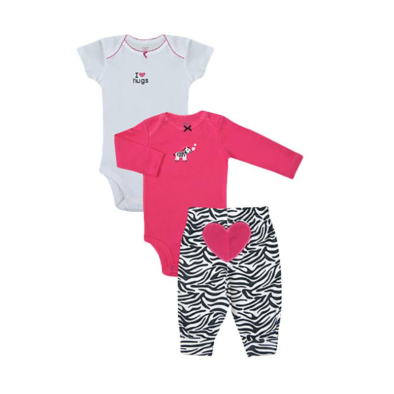 Bearhug Zebra Set Bayi Perempuan 9-18M - Pink [3 Pieces]