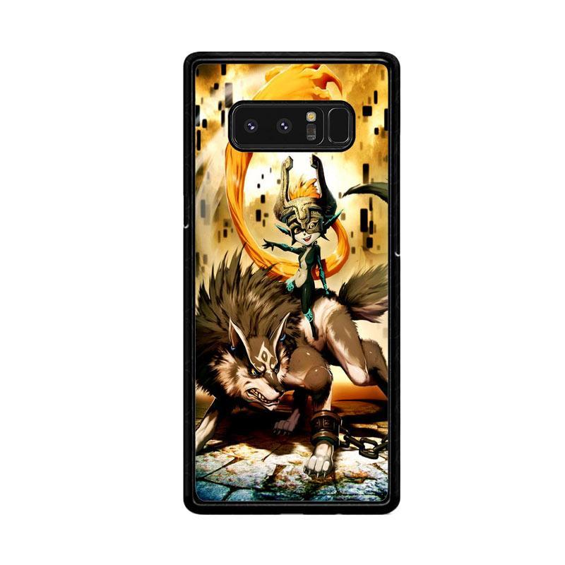 Flazzstore Zelda And Wolf Twilight Princess Z0255 Custom Casing for Samsung Galaxy Note8