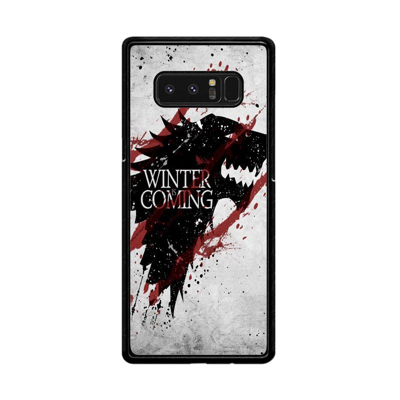 Flazzstore Winter Is Coming House Stark Logo Z0308 Custom Casing for Samsung Galaxy Note8