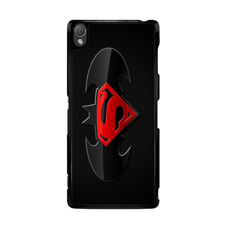 Flazzstore Batman And Superman Logo F0154 Custom Casing for Sony Xperia Z3