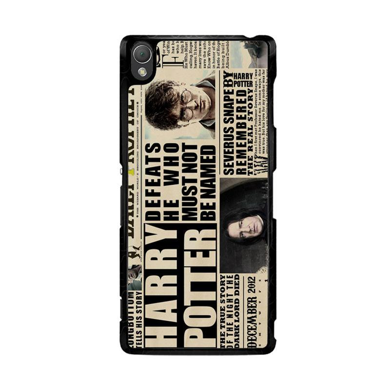 Flazzstore December2012 Harry Potter Daily Prophet F0163 Custom Casing for Sony Xperia Z3