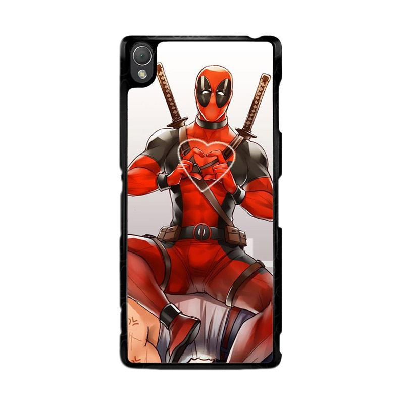 Flazzstore Deadpool Love Heart F0375 Custom Casing for Sony Xperia Z3