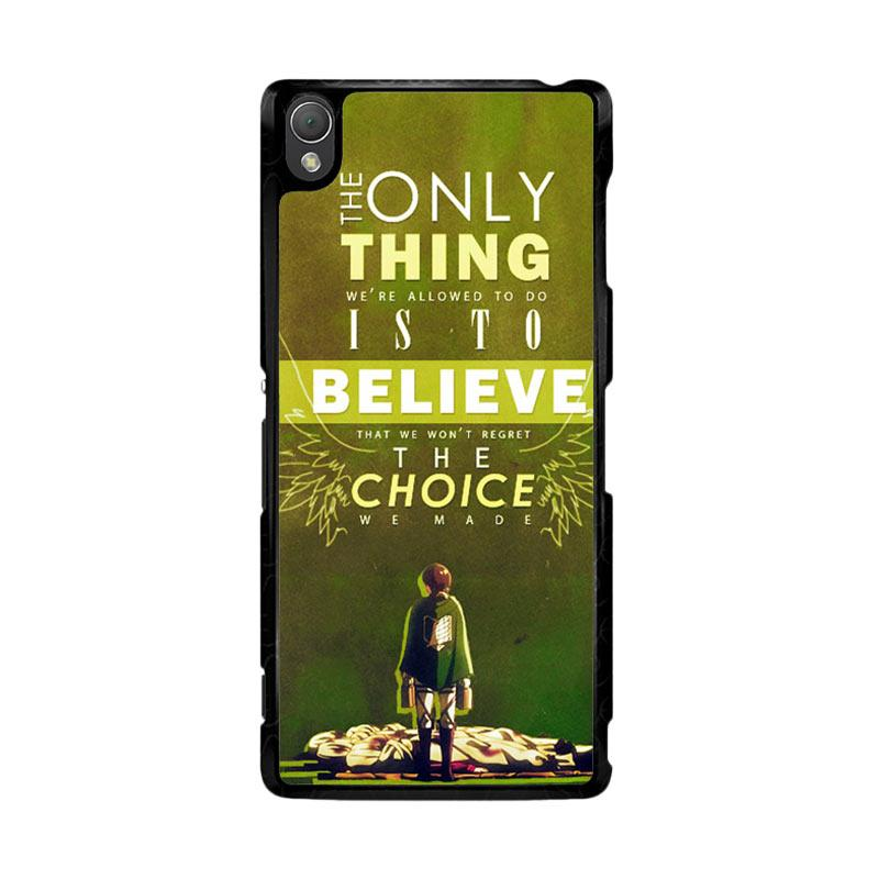 Flazzstore Attack On Titan Quotes Z1091 Custom Casing for Sony Xperia Z3