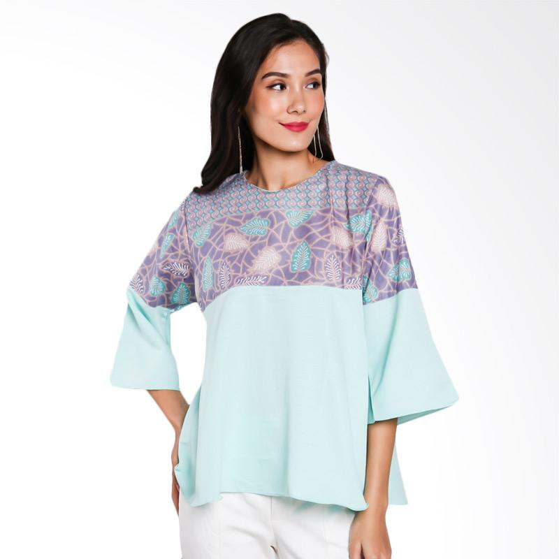 Jening Batik JW-026 Blouse - Green