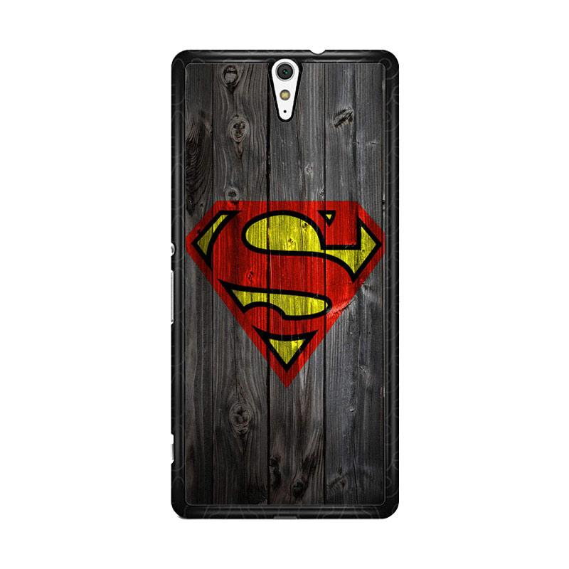Flazzstore Wood Superman Logo 1215 F0249 for Sony Xperia C5 Ultra