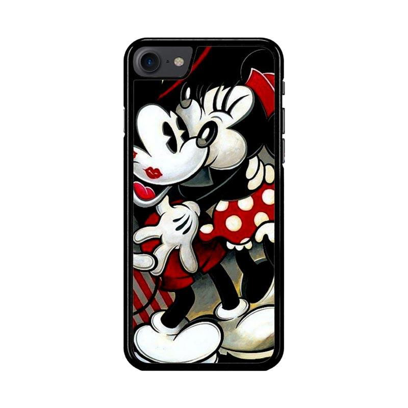 Flazzstore Hugs And Kisses  Mickey Minnie Mouse Z1557 Custom Casing for iPhone 7 or 8