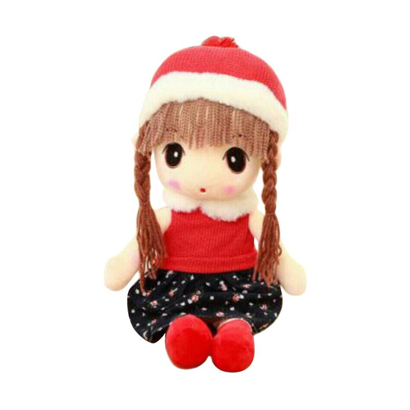 Boneka Murah Lucu Girl Import Topi Winter Boneka - Red