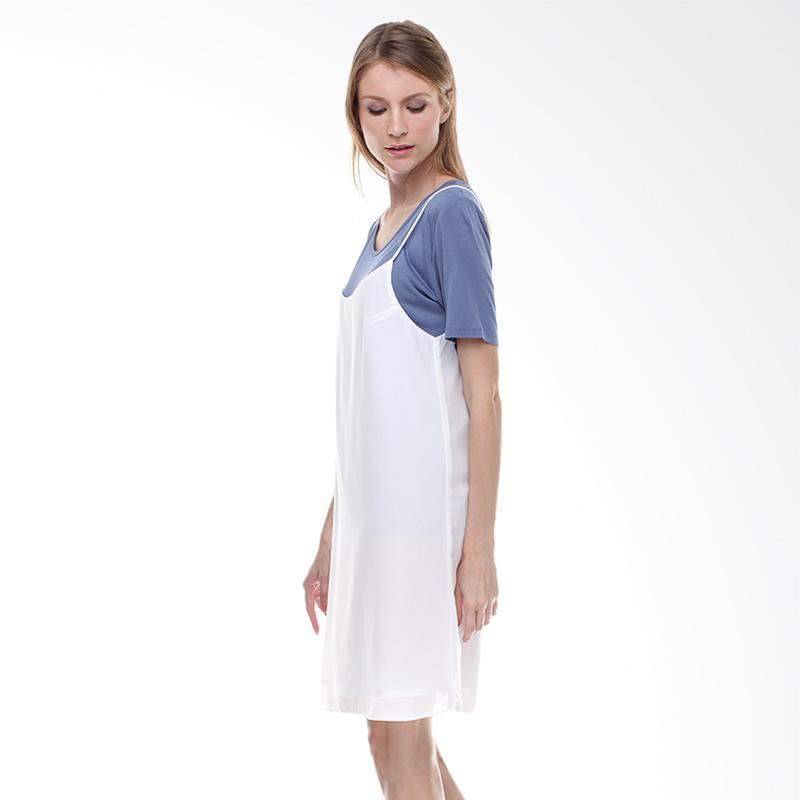 Halcyon Slip Dress in White