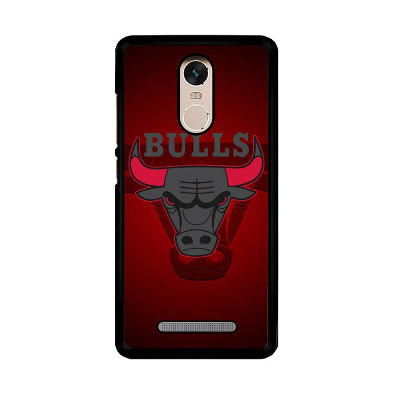 Flazzstore Chicago Bulls Logo Z3338 Custom Casing for Xiaomi Redmi Note 3 or Note 3 Pro