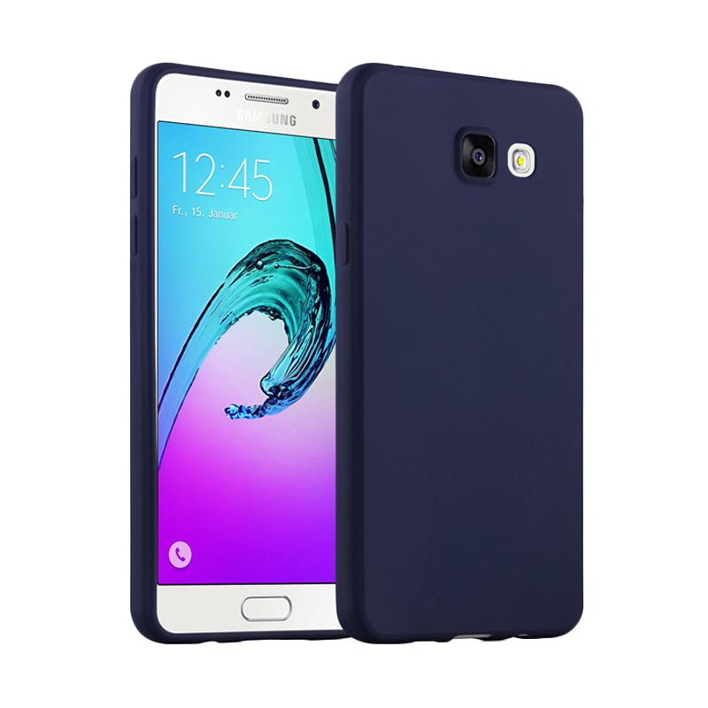 Lize Design Slim Anti Glare Silikon Casing for Samsung Galaxy A720 A7 2017 - Biru Tua
