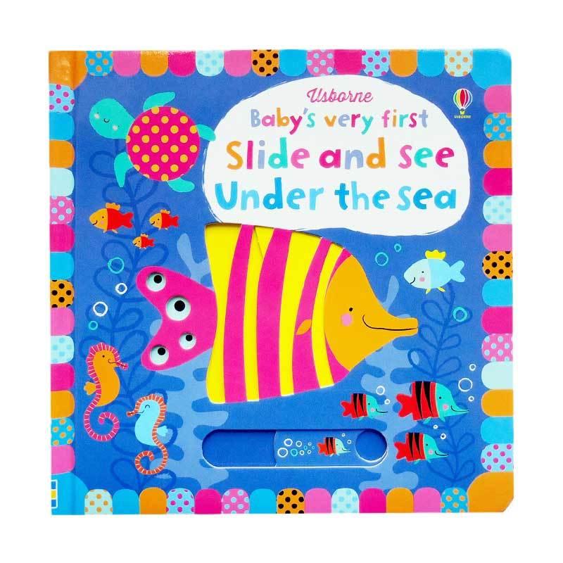 Genius Usborne Baby's Very First Slide and See Under the Sea Buku Edukasi Anak