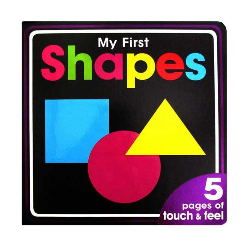 Genius My First Shapes Board Book with Touch and Feel Textures Buku Anak [High Contrast Black]