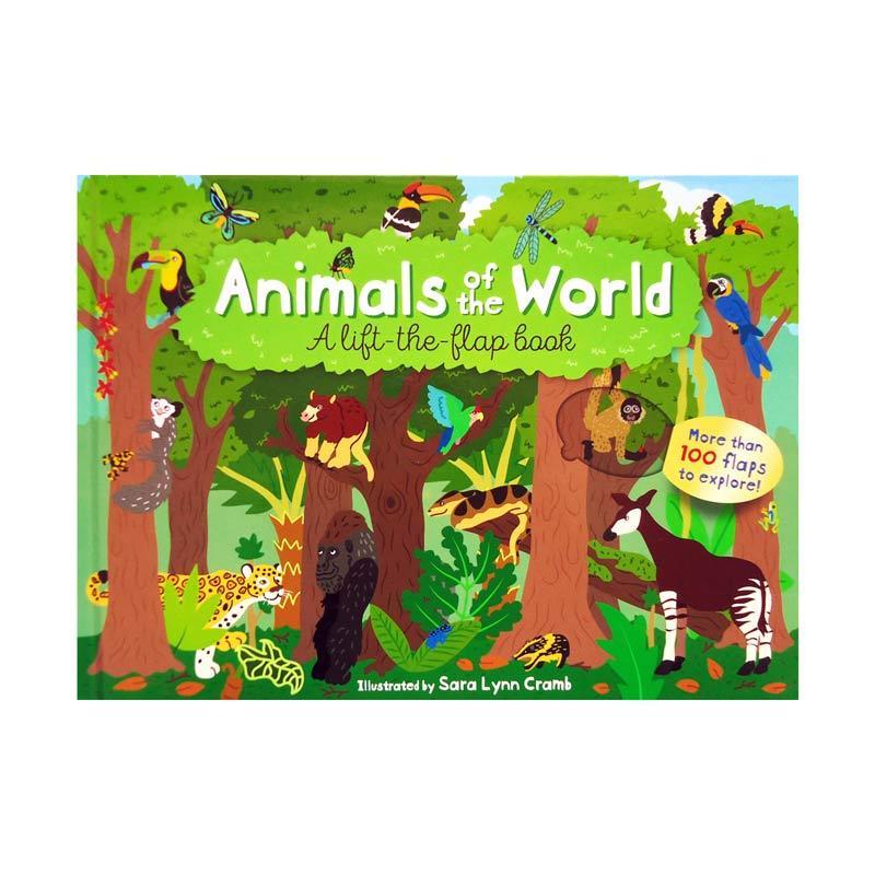 Genius Animals of the World A Lift-the-Flap Book more than 100 flaps to explore Buku Edukasi Anak