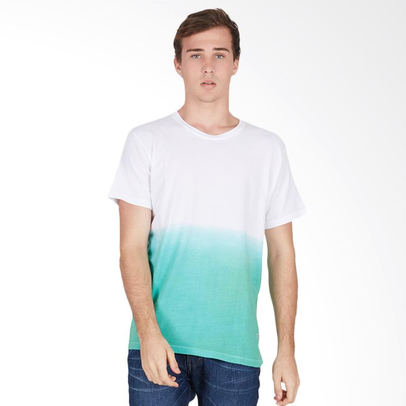 Tendencies Dip Dye Tshirt Atasan Pria - White Green