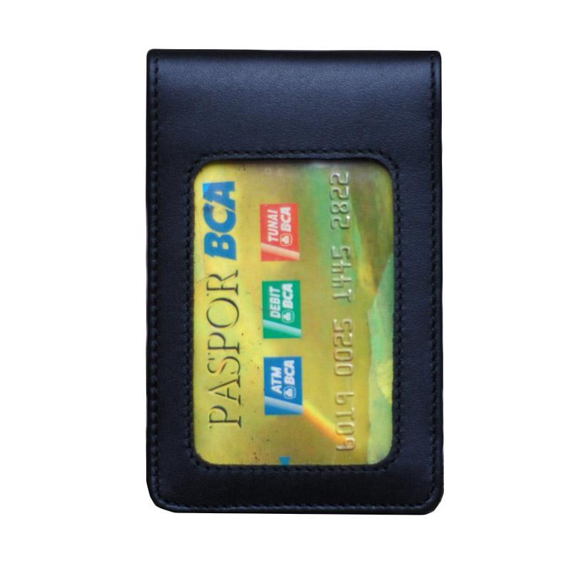 harga Leather Castle ID Card Holder - Hitam Blibli.com