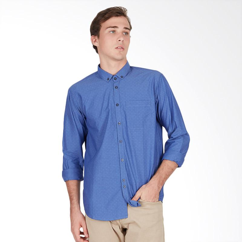 Tendencies Tilted Squares Shirt Kemeja Pria - Blue