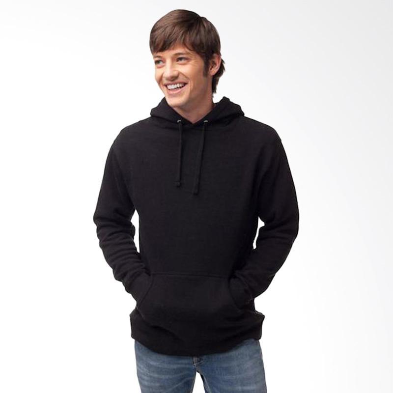 Jual Refill Stuff Hoodie Polos Sweater Pria - Hitam Online - Harga & Kualitas Terjamin | Blibli.com