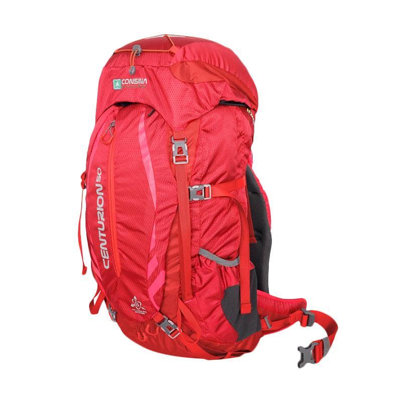 Consina Centurion Backpack/Ransel/Tas Gunung/Carier - Merah [50 L]
