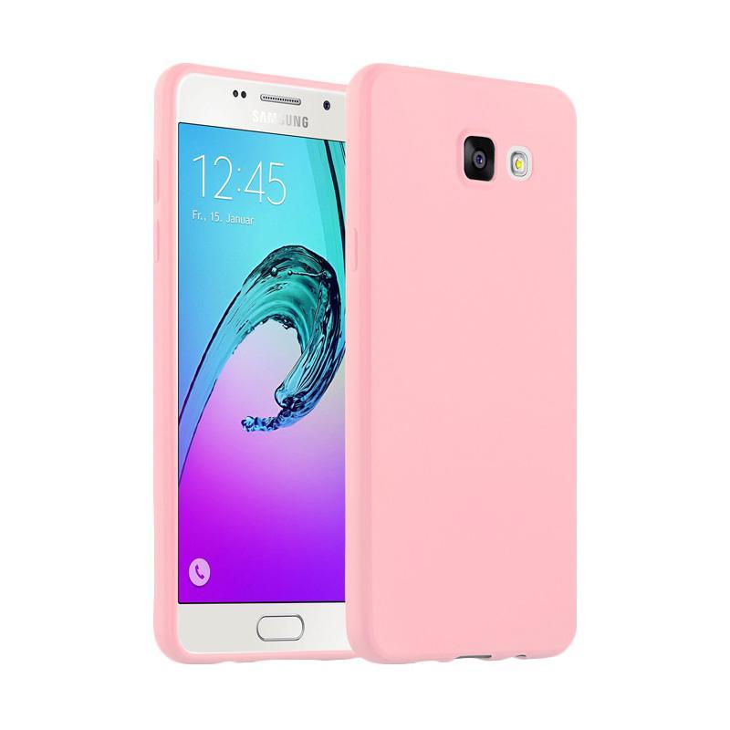 Lize Design Case Slim Anti Glare Silikon Casing for Samsung Galaxy J7 Prime - Pink