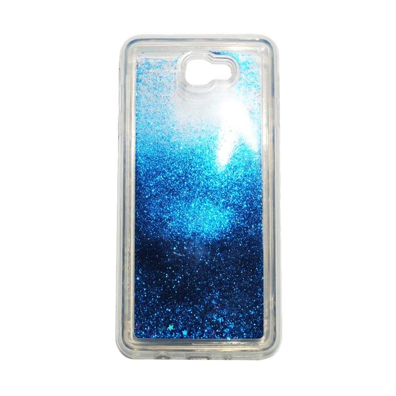QCF Softcase Water Glitter Aquarium Silicone Casing for Samsung Galaxy J7 Prime Case Blink Blink - Biru
