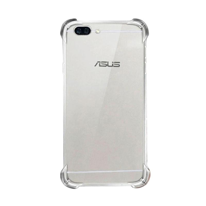 QCF Anti Shock Anti Crack Silikon Softcase Casing for Asus Zenfone 4 Max Pro ZC554KL - Transparan