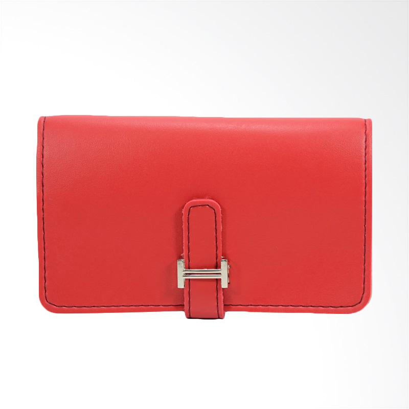 Bambi 6264 Titanium Card Holder - Red