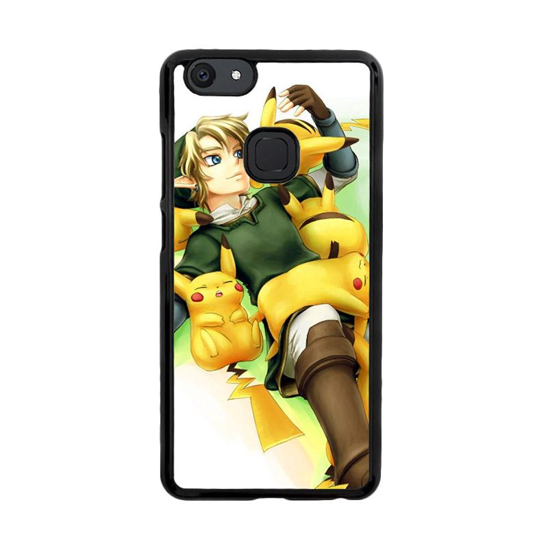 Flazzstore Zelda With Pikachu Pokemon Z1061 Custom Casing for Vivo V7