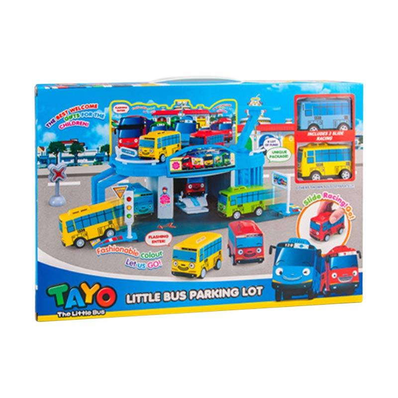 Tayo The Little Bus XZ-606 Tayo Parking Lot Mainan Anak