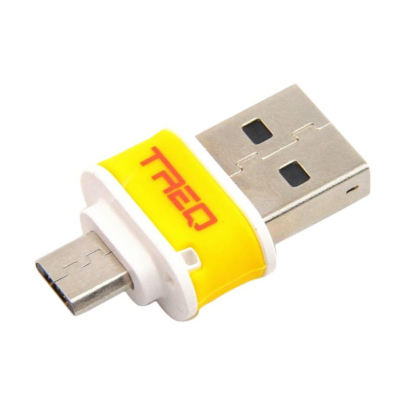 harga TREQ Mobile USB Flashdisk OTG - Yellow [8 GB] Blibli.com